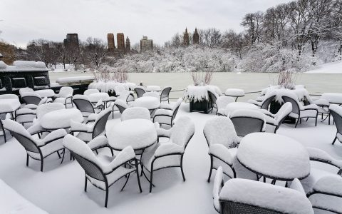New-York le jour après le passage du blizzard.