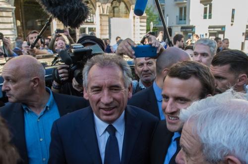 Emmanuel Macron et François Bayrou à Pau