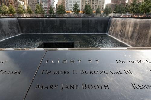 9/11 Memorial, (World Trade Center) New York.