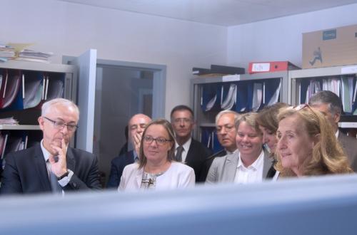 La Garde des Sceaux Nicole Belloubet en visite à Pau.