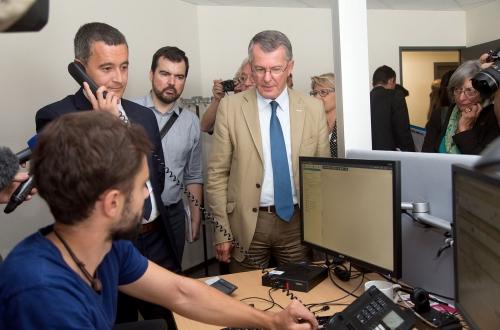 Visite en Béarn de Gérald Darmanin, Ministre de l'action et des comptes publics.