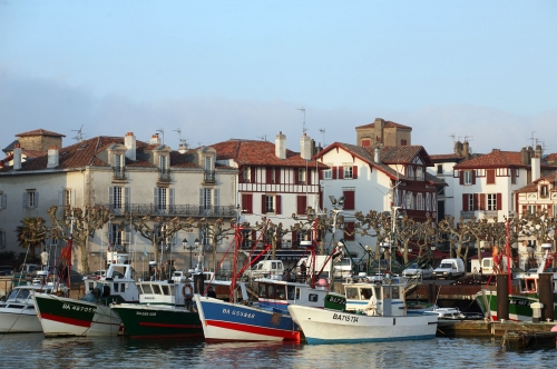 Saint Jean de Luz, le port.