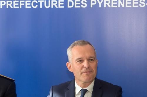 Pau, visite du ministre de l'écologie François de Rugy