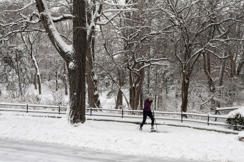 New-York le jour apres le passage du blizzard en Fevrier 2013
